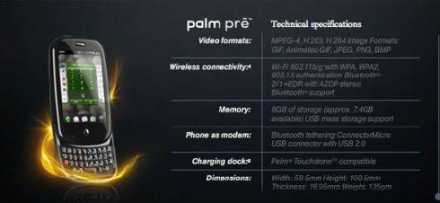 palm-pre-specs
