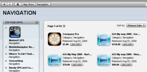IGo My way 2009 Now Available via AppStore; Prices and Details Revealed.