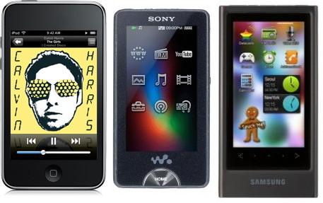 ipod-touch-samsung-yp-p3-sony-x-walkman