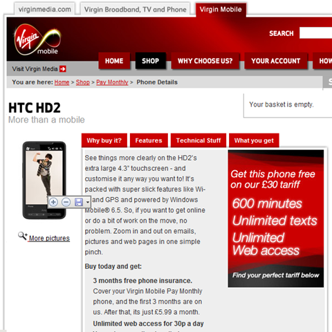 HTC HD2, Available for Free on Virgin Mobile | GSMDome com