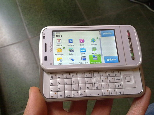 nokia e5 white. As far as the Nokia E5 (photo