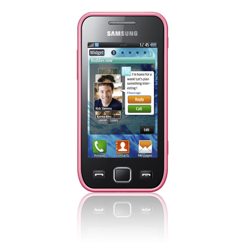 Samsung Wave 575 will be available in black, white and pink.