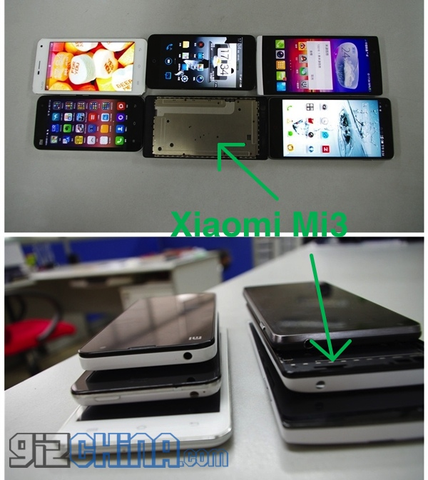 Xiaomi Mi3 Photos Leaked, Shown in Stack of Other Phones ...