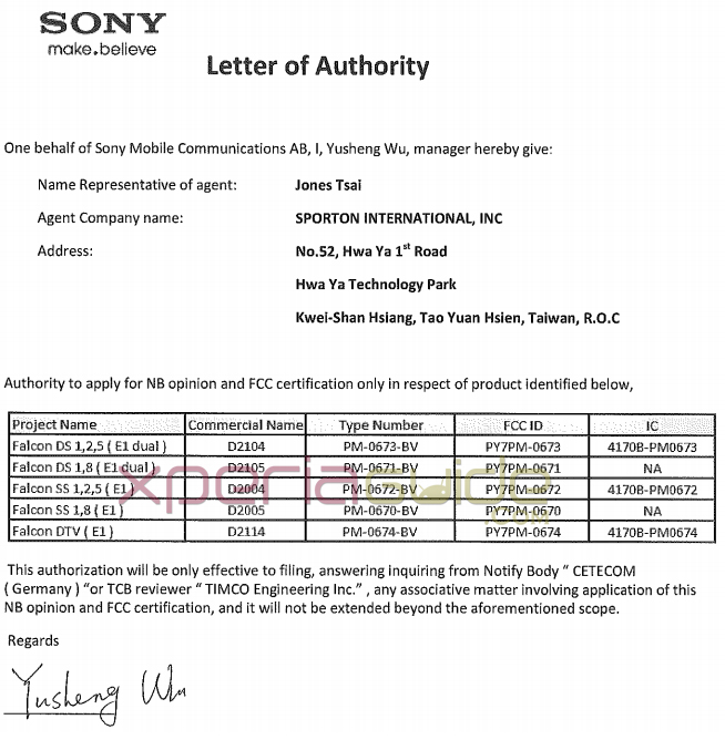 Sony-D2104-spotted-on-FCC