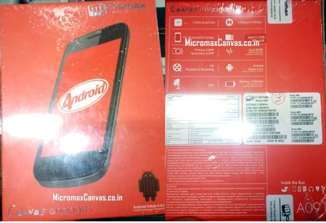 Micromax-Canvas-Engage-A091-box