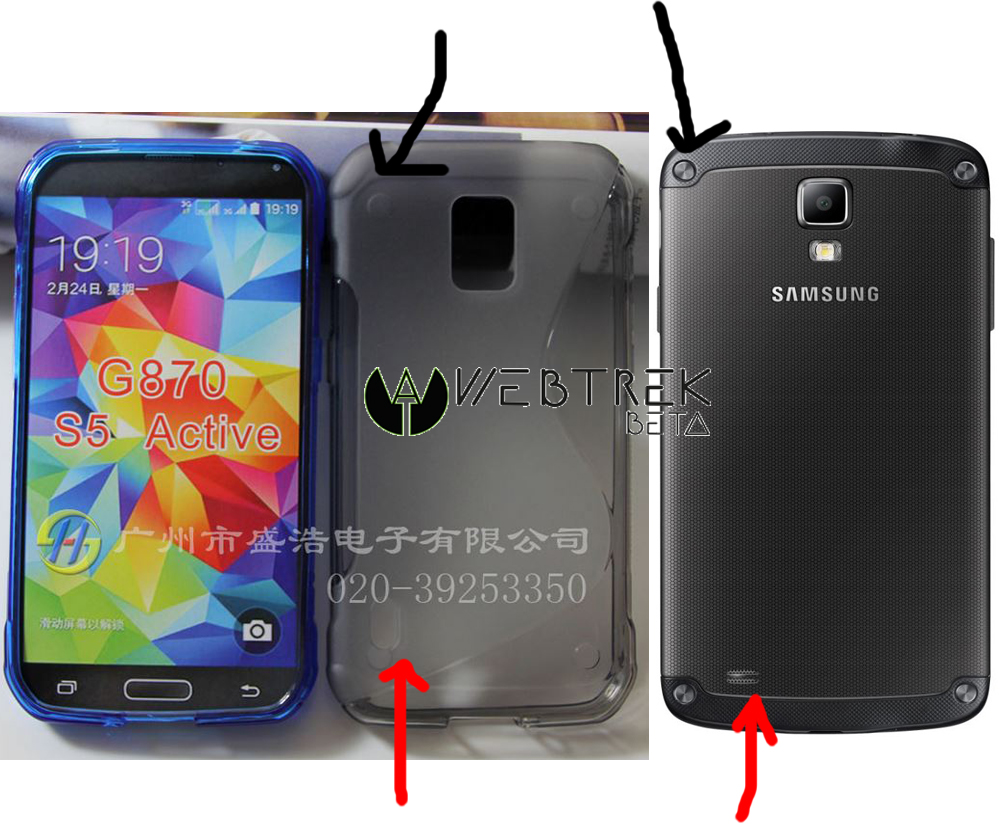 Samsung Galaxy S5 Active Case Reveals Design Similar to ...