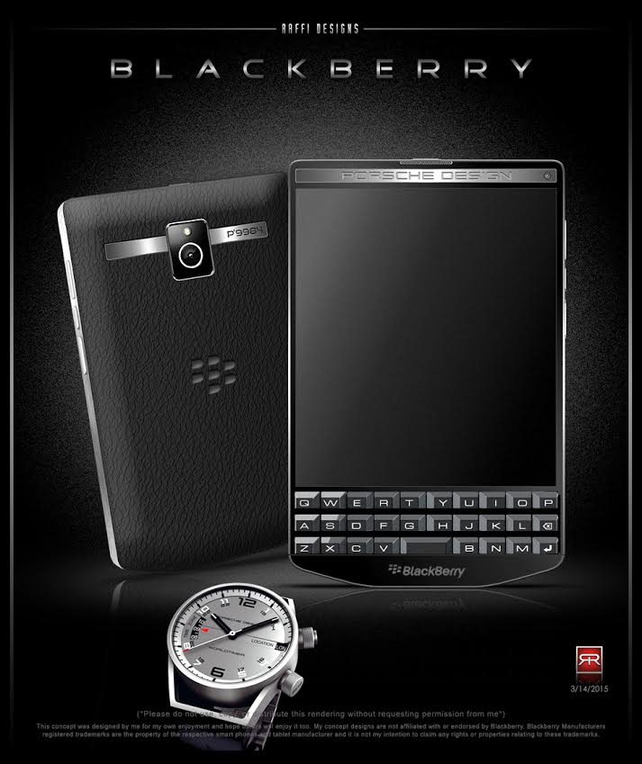 blackberry porsche design p 39 9984 envisioned as concept phone. Black Bedroom Furniture Sets. Home Design Ideas