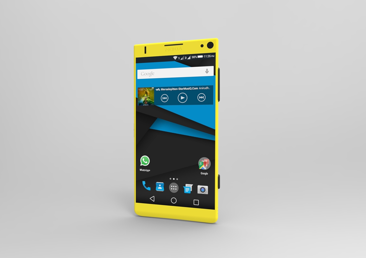 Nokia Android Lollipop Phone Rendered By Designer Chacko T