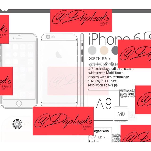 dripleaks iphone 6s leak