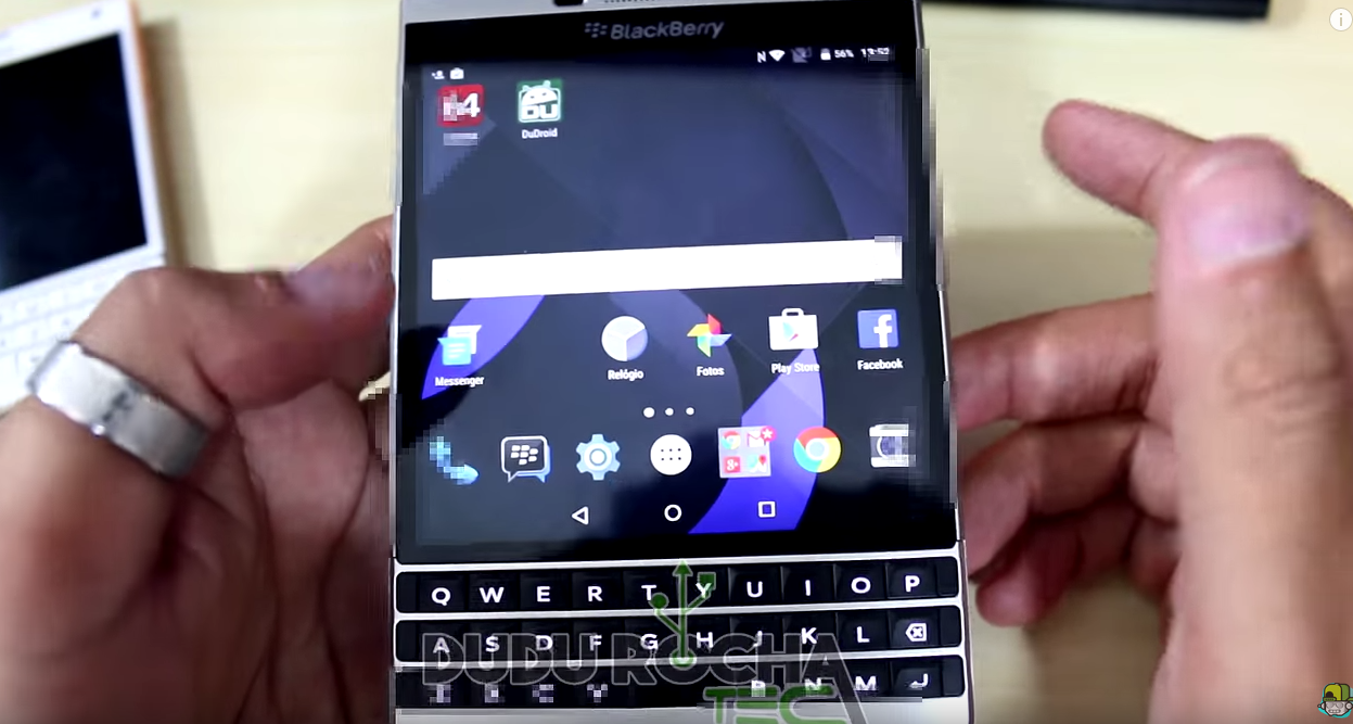 Blackberry Passport Caught On Camera Running Android Lag