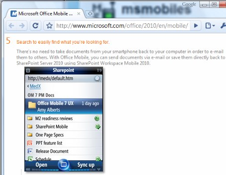windows-mobile-7-sharepoint