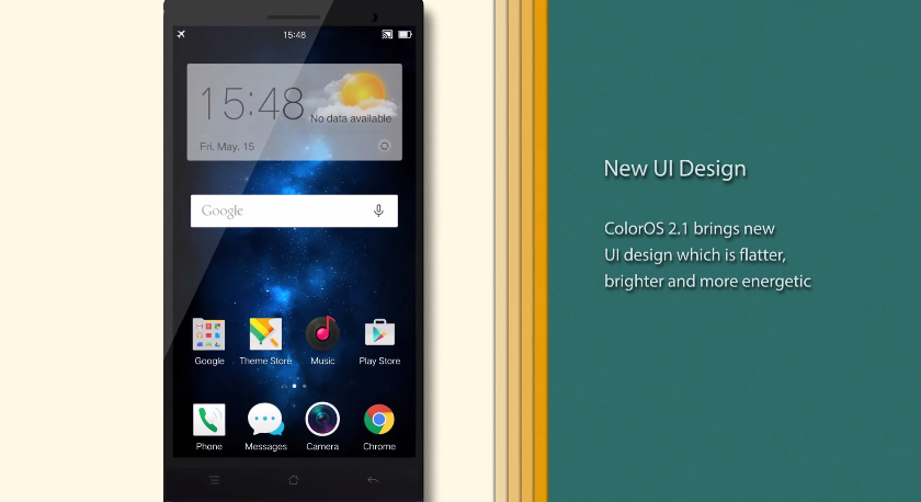 Oppo Debuts Color OS 2 1, With Flatter UI, Based on Lollipop (Video