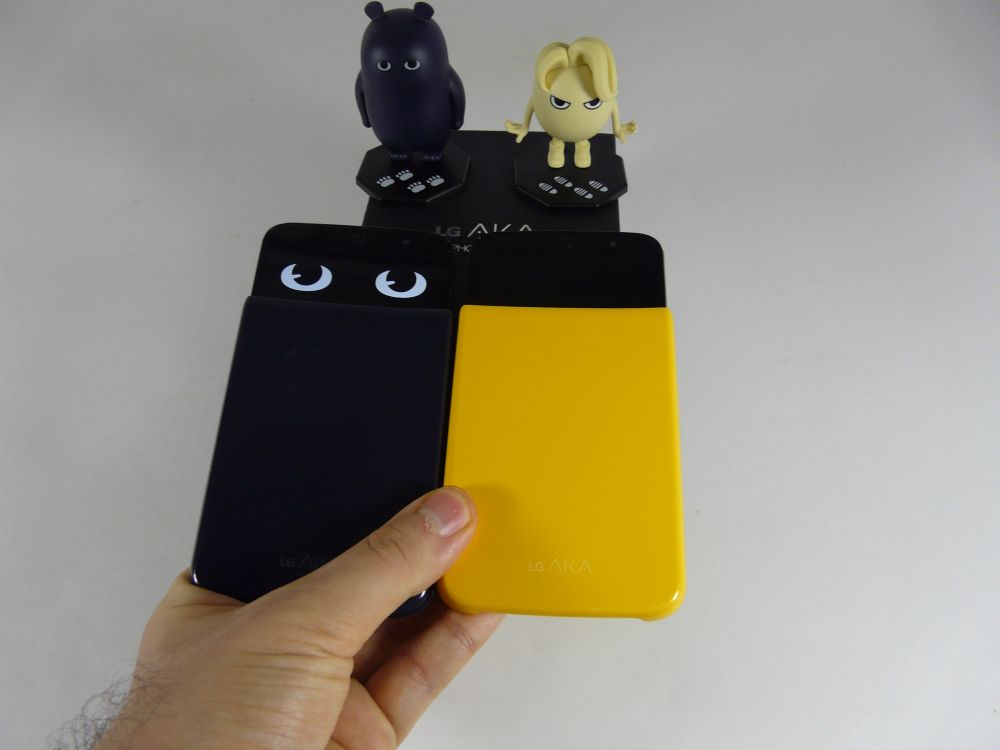 LG AKA Unboxing Eggy And Soul Versions Funky Little Phone Pulled Out Of Complex Box Mascot Included Video