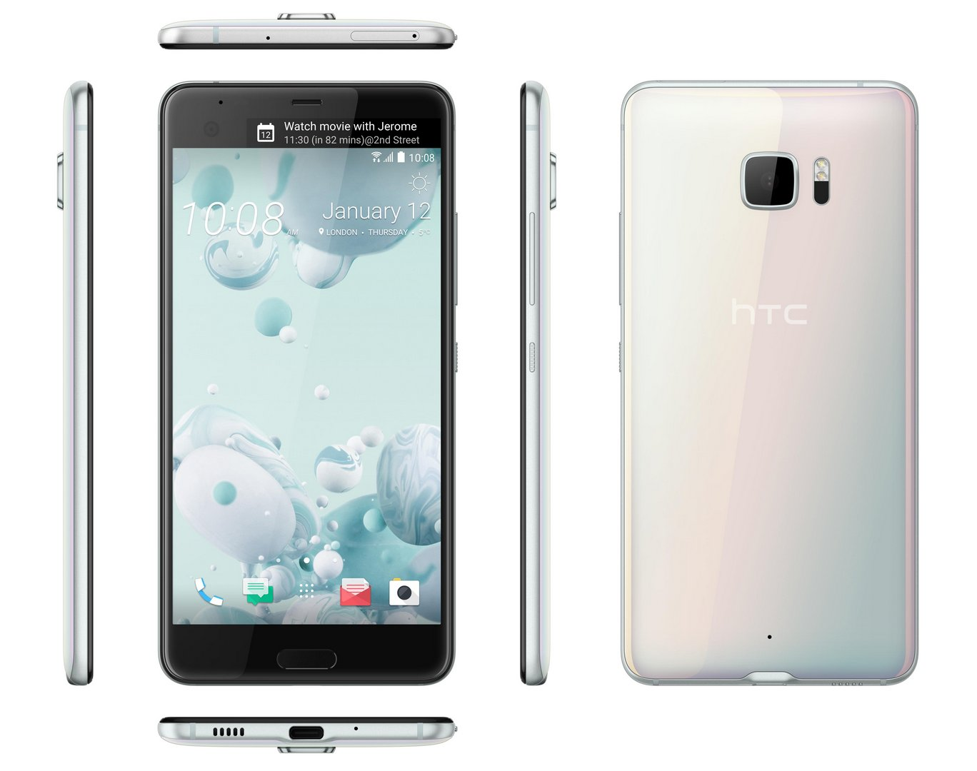 HTC U Ultra Debuts, With Secondary Screen, HTC Sense Companion Assistant | GSMDome.com