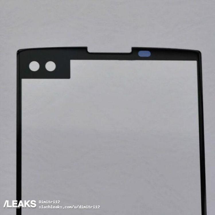 lg v30 front panel leak shows up with dual selfie camera. Black Bedroom Furniture Sets. Home Design Ideas