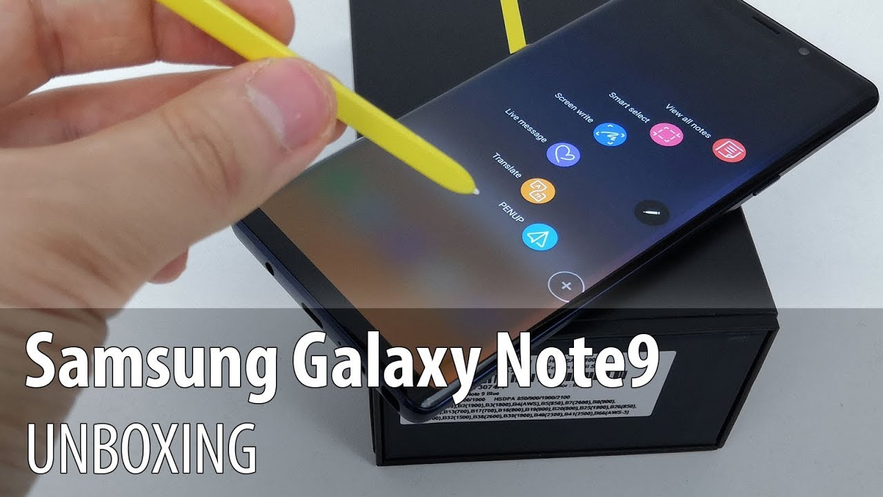 Samsung Galaxy Note 9 Unboxing Heavier More Massive Smarter Led Cover For Note9 Brown Yellow S Pen Video